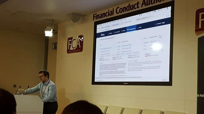 RegTech, FCA TechSprint, FCAsprint